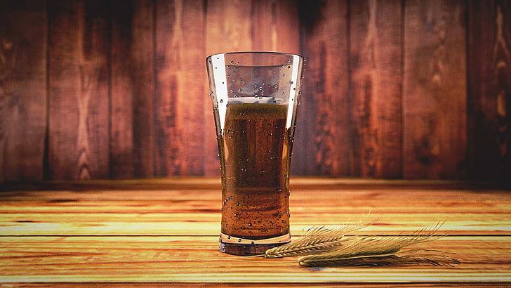 เบียร์, เหล้า, เครื่องดื่ม, แก้ว, แก้วมัค, ข้าวบาร์เลย์, มอลต์