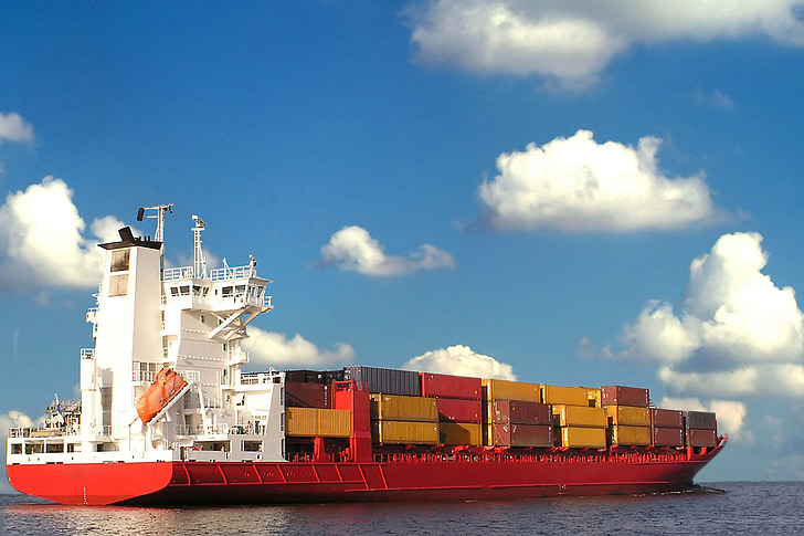 cargo, ship, container, commerce, ocean, international, transportation