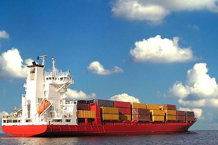 Cargo, fartyg, behållare, Commerce, Ocean, internationella, transport