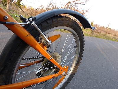 bicikl, Zreli, kolo, brdski bicikl, žbice, Zatvori, Profil