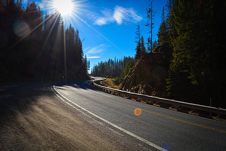 Montana, carretera, camí rural, carretera de muntanya