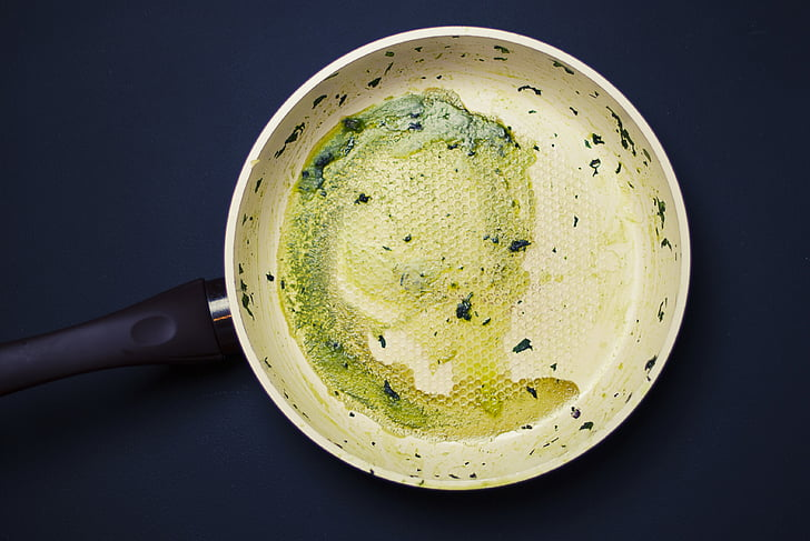 round, beige, frying, pan, frying pan, kitchen, cooking
