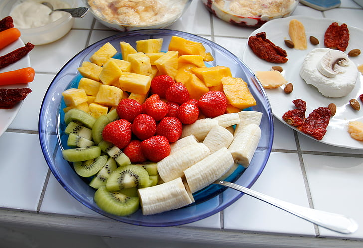fruit, fruits, vitamins, healthy, colorful, fruit plate, frisch
