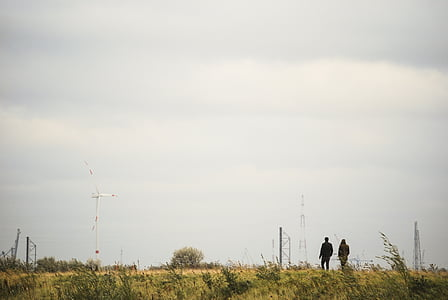 walking people, wheat field, people, nature, walking, outdoors