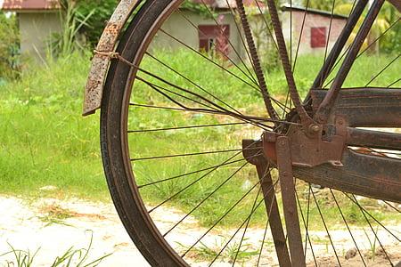 stari bicikl, berba bicikala, onthel bicikl, Stari, zapušten bicikl, bicikl kotača, kolo