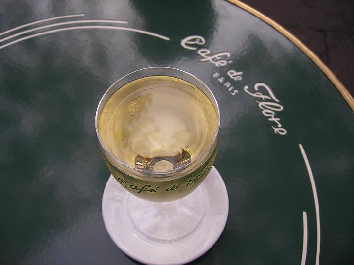 veini, Pariis, kohvik, Prantsusmaa, retro, sümbol, traditsiooniline