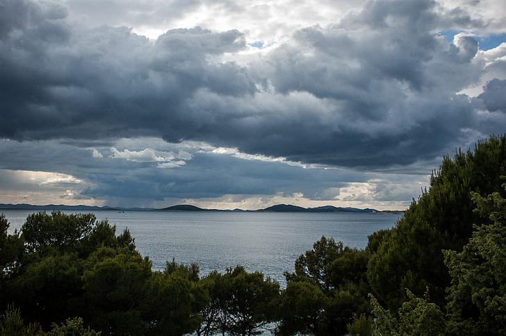 облака, темные облака, гроза, форму облака, Шторм, Хорватия, мне?