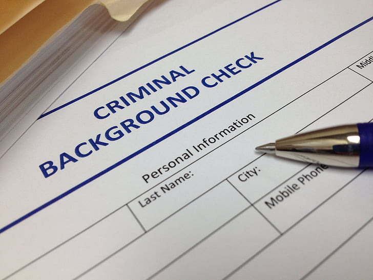 iepriekšējās darbības pārbaude, dokumentu, drošības, krimināllietās, aizsardzība, droša, informācija
