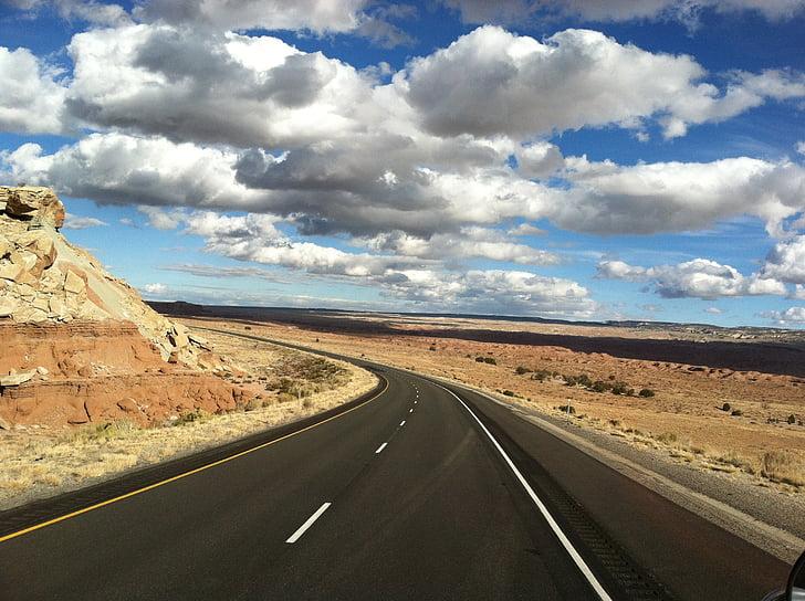 Road, motorväg, Sky