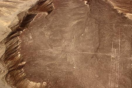 nasca, peru, nazca plateau, nasca lines, hummingbird, sacred bird, mountain country