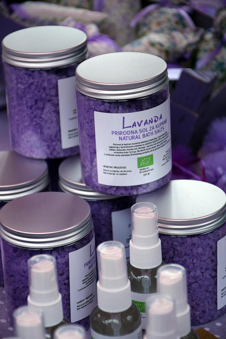 sản phẩm lavander, lavander, muối, khỏe mạnh, tự nhiên, thảo mộc, tươi