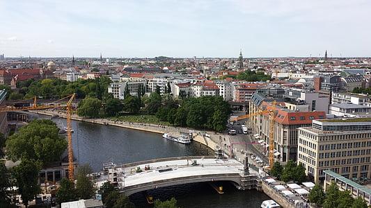 berlin, district, river, bridge, cityscape, europe, architecture