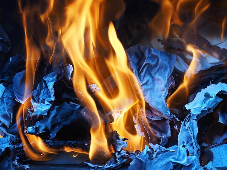 tulekahju, põlemine, leek, tuhk, raamatu põletamine, purustamise, Grill