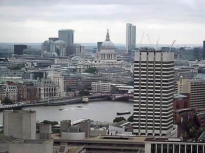 view, buildings, river, landscape, london, cityscape, architecture