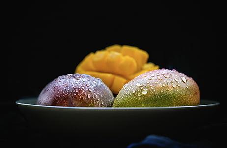 Mango, ovoce, Zátiší, Fotografie potravin, jídlo, svačina, Pekárna