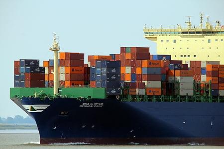 behållare, fartyg, kostnad, fraktfartyg, Cargo, Frakt, transport