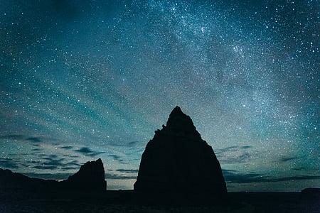 cosmos, fosc, exploració, Via Làctia, natura, nit, a l'exterior