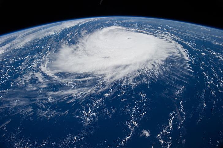l'huracà, Edouard, Estació Espacial Internacional, 2014, núvols, temps, tempesta