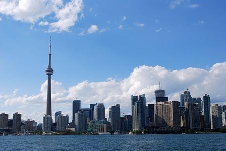 arkitektur, blå, byggnad, byggnader, företag, Kanada, Center
