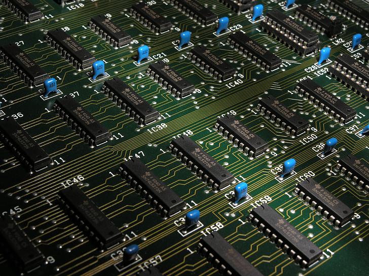 elektronika, komponenty, čipy, počítač, doska, Technológia, Hlavná doska