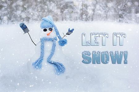 snowman, snow man, winter, let it snow, snow, white, cold