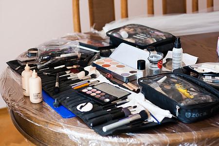 化妆, 之前, 婚礼, 笔刷
