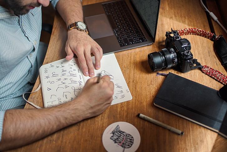 laptop, počítač, fotoaparát, elektronické, Technológia, Office, Práca