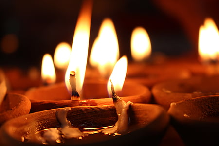 candles, candlelight, flames, burning, light, flame, candle