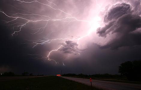 Žaibas, perkūnas, perkūnija, Audra, energijos, galia, Gamta