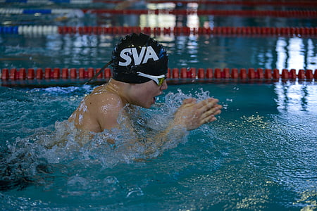 piscina înotător, atlet, internationale înota întâlnire, Erlangen 11 12-03-20017, SVA augsburg, 200 metri brust, apa