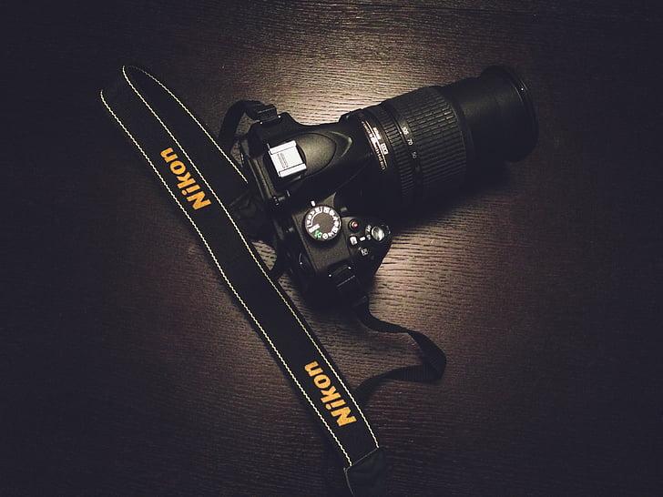 чорний, Nikon, DSLR, камери, об'єктив, Фотографія, дзеркальні