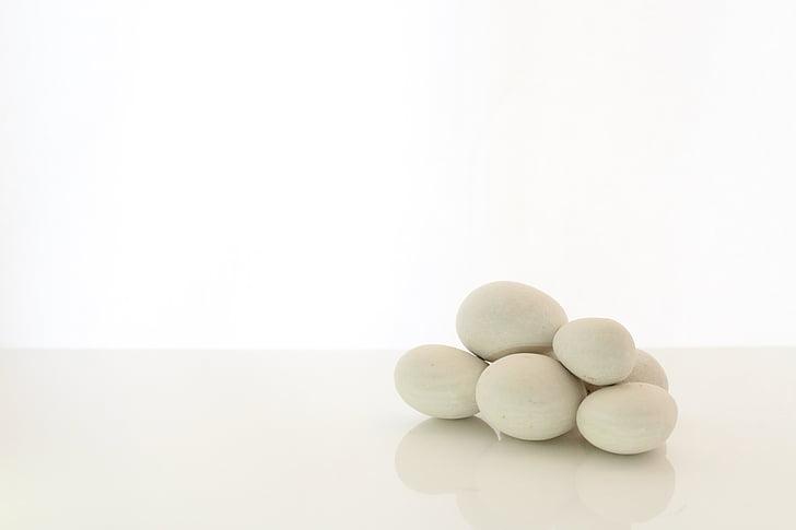 yumuşak taşlar, ileti terapi, pürüzsüz, doğal, Terapi, Beyaz, doğa