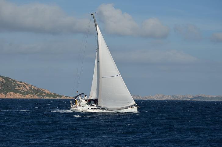 sailing boat, boot, sail, sea, ship, water, sailing vessel