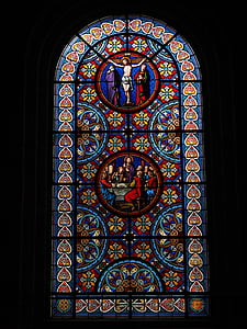 Gebrandschilderd glas, venster, Christus, Basel Kathedraal, Münster, Basel, kerk