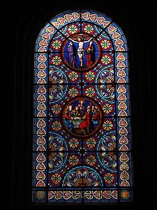 Glassmaleri, vinduet, Kristus, Basel cathedral, Münster, Basel, kirke