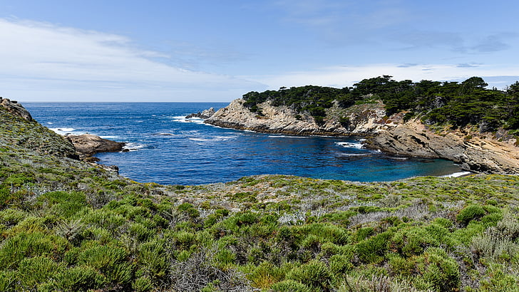 Pacífico, Costa, Reservados, paisaje, Océano