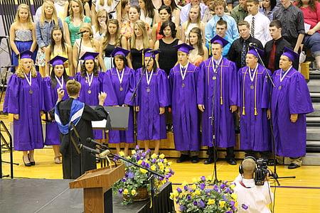 дипломирането, церемония, образование, университет, колеж, училище, постижения