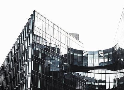 projectes arquitectònics, arquitectura, negre i blanc, edificis, negoci, ciutat, construcció