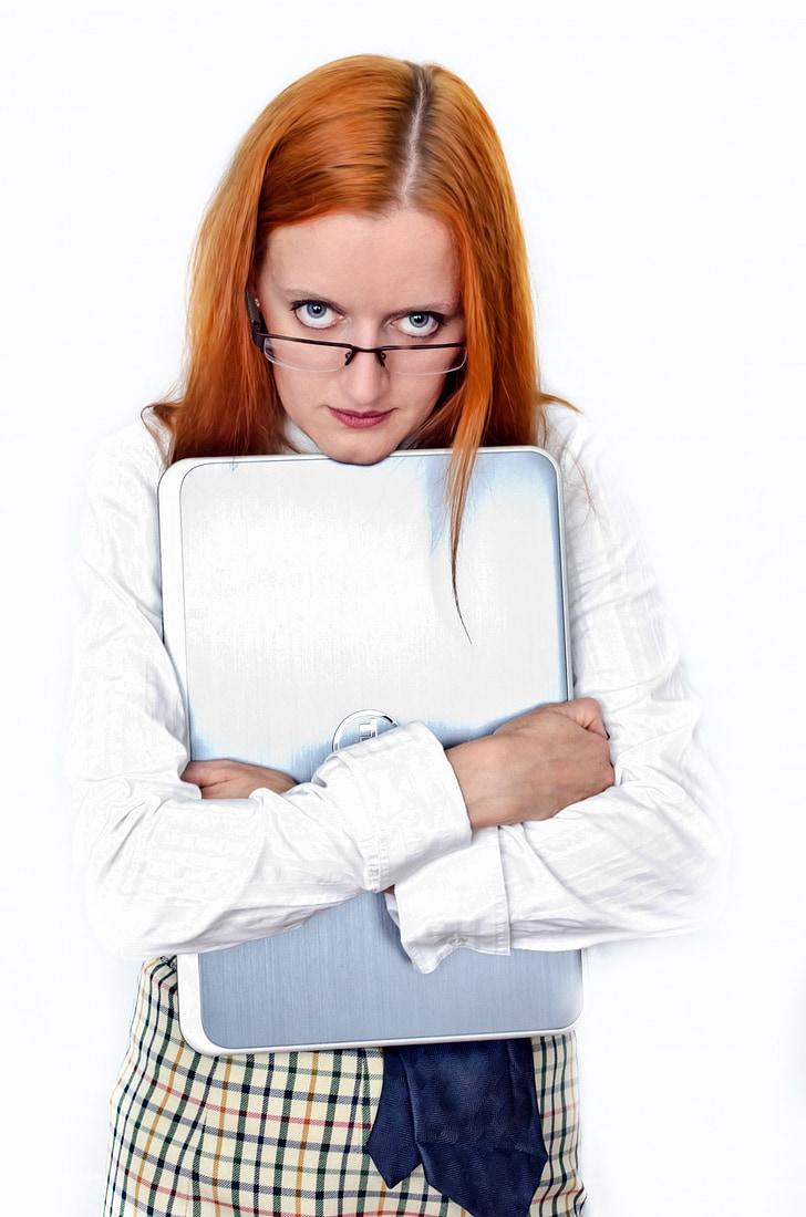người phụ nữ, Cô bé, nữ, mọi người, máy tính xách tay, kinh doanh, công việc