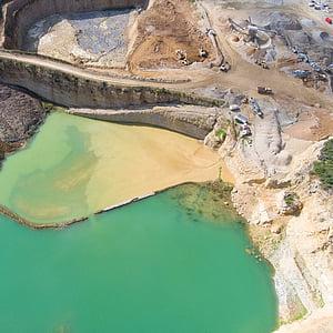 Aerial, photographie, exploitation minière, montagne, vue, paysage, surface