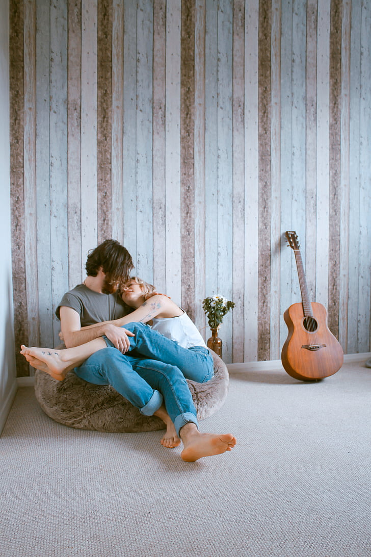 people, man, woman, couple, love, hug, room