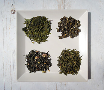 fulles de te, te, te verd, Expresso, fulles seques, aliments, sec