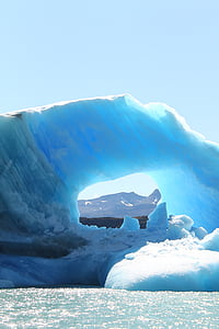 isberg, Argentina, Ice, Patagonia, vatten, blå, sjön