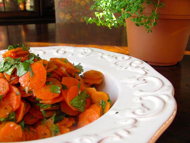 carottes, en bonne santé, légume, végétarien, vert, naturel, santé