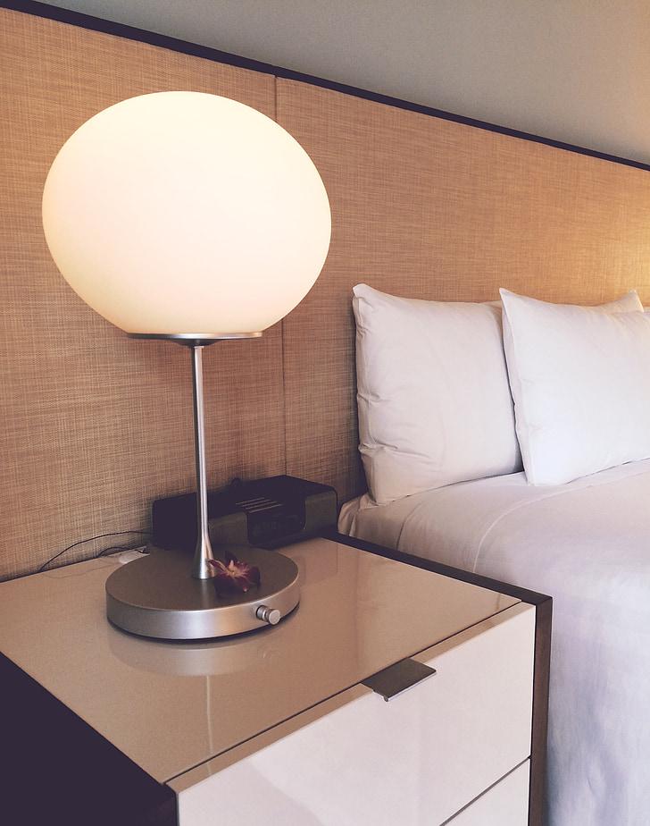 Hotel, sala, llit, tauleta de nit, viatges, luxe, Hyatt