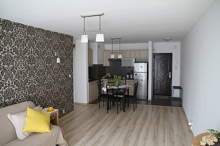Apartament, sala, casa, interior residencial, disseny d'interiors, decoració, Apartament confortable