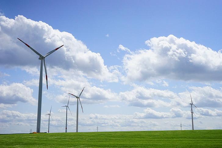 windräder, énergie éolienne, énergie éolienne, énergie, environnement, cours, vent