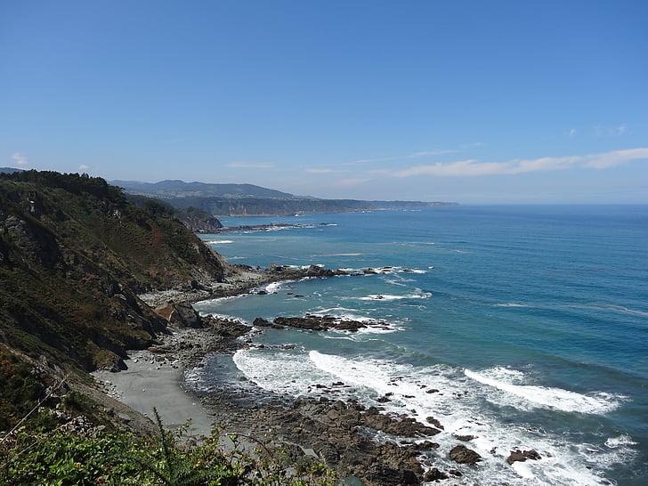 Beach, Astuuria, Turism, Sea, rannajoon, kalju, loodus
