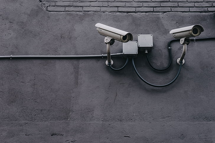 concrete, wall, pipe, cctv, camera, security, crime