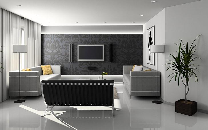 gyvenamasis, interjero dizainas, baldai, uždarose patalpose, Apartamentai, dekoro, vidaus kambario